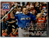 2019 Topps Series 2 Greatest Moments GM-18 Black /299 AARON JUDGE Yankees