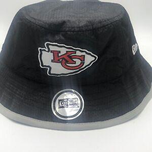 KANSAS CITY CHIEFS 2020 NFL NEW ERA 9FIFTY OFFICIAL PLAYOFFS BUCKET HAT Black