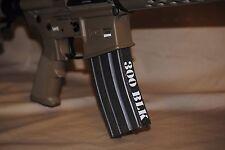 0013     300 BLK (5) Mag decals - sticker AR15 magazine S&W Colt