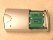 2 ULTRAFIRE CR2 RECHARGEABLE BATTERIES + CHARGER 15270