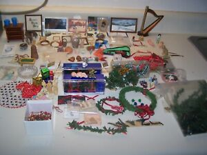 Huge Lot Doll House Miniatures Furniture and Accessories