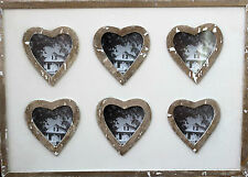 Multiple  Timber  Photo Frame with Heart motif       BRAND NEW