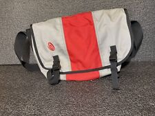 TIMBUK2 - Padded- Messenger Bag Red,Black &Gray With Waist Belt Size M