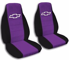Black Border Bowtie Seat Covers Universal Fit 19 Color Options