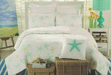 ☆ TROPICAL STARFISH ☆ King Quilt CYNTHIA ROWLEY Gold Green Beach House Coastal