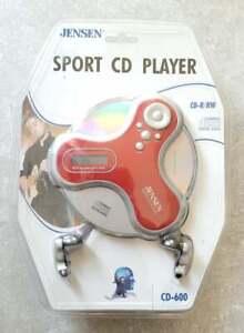 NEW NOS Jensen CD-600 Anti-Skip CD Walkman Player Equalizer CDRW RED FREEUSHIP