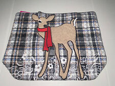 Vera Bradley Vera Tote Cozy Plaid Neutral Deer Large 18x14x6 Christmas Gift