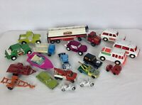 Vintage Car Lot (19) Tootsie Toy, Matchbox, Yatming, Lesney, + Die Cast Plastic
