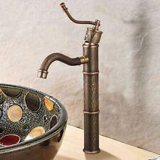 Antique Brass Single Handle Bathroom Faucet Vessel Sink Basin Mixer Tap
