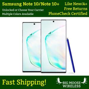 Samsung Galaxy Note 10 Note 10+ Plus N970U N975U 256GB Unlocked RENEWED GRADE A+