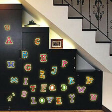 A-Z letter Alphabet Glow In The Dark Kids Wall Stickers Small Size 22*30 cm