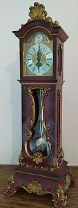 Vintage Schmid German Mini Grand Father Clock Long Case 8 Days Movement 50's