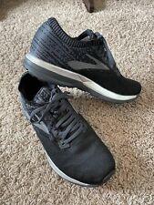 Brooks Ricochet Running Tennis Shoes Women's Size 8.5 Black Silver Sneakers