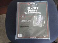 Lot of 10 8x10 BCW Rigid Toploaders Photo Holder Comes with sleeves