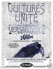 """Versaemerge """"The Vultures Unite Tour"""" 2010 Portland Concert Tour Poster"""
