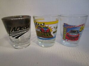 NASCAR Collector's Shot Glasses Assortment: Talladega, NASCAR SpeedPark, Gordon