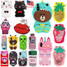 3D Silicone Animal Cartoon Thick Rubber Gel Kawaii Cover Case for Apple iPhone