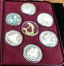 Walt Disney 50th Anniversary of Funtasia .999 Silver Proof 6 Coin Set OMP COA