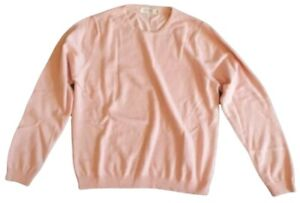 lochmere womens pure cashmere crew neck long sleeve jumper autumn pink size m