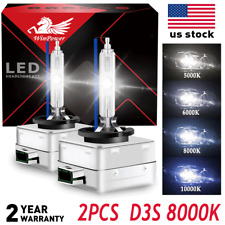 2x Xenon D3S 8000K Bulbs HID Headlight 35w Replace for Philips OEM Factory Lamps