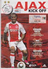 Programma / Programme Ajax Amsterdam v NEC Nijmegen 04-12-2010