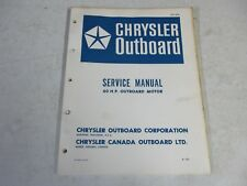 Factory Chrysler Outboard motor Service Manual 60 hp