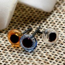 10Pair 5mm Blue/Brown/Transparent Fixed Teddy Glass Eyes Needle Felting Sewing