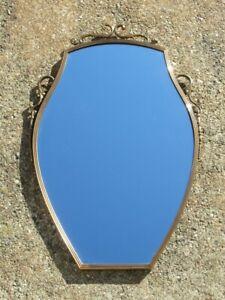 Vintage Mirror with Frame Brass Mirror Modern Antiques Design 1960