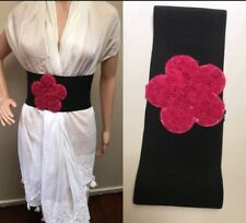 ❤️Alannah Hill $149 Black Pink Wide Stretchy Belt Size S M 8 10 + Mimco Dust Bag