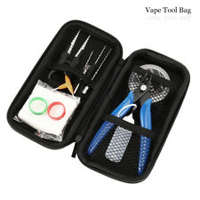 12Pcs Vape Tool Kit Coil Jig Screwdriver & Organic Cotton For RDA RTA RBA RDTA