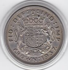 1937   King  George  VI   Large  Crown / Five Shilling  Coin