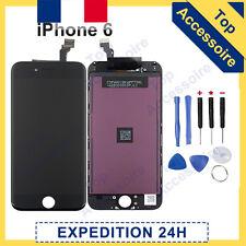 ECRAN IPHONE 6 NOIR VITRE TACTILE + LCD ORIGINE RETINA SUR CHASSIS + NOTICE