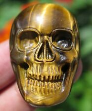 37mm 0.7OZ Natural Gold Tiger's Eye Chatoyant Crystal Skull