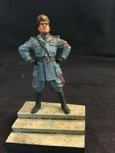 BUILT PAINTED MUSSOLINI ITALIAN DUCE 54 MM WITH ATLANTIC BASE 1/32 CAMICE NERE