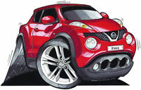 Nissan Juke Red Printed Koolart Cartoon T Shirt 3096 More Colors Available
