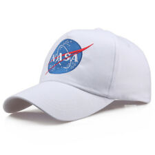 NASA Trucker Hat Mesh Hat Snap Back Insignia Embroidered Baseball Cap Hat Black