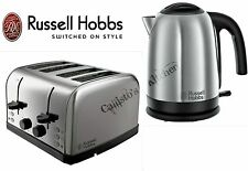 Stainless Steel Kettle and Toaster Set Russell Hobbs Kettle & 4 Slot Toaster New