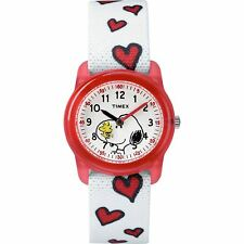 Timex Kids Peanuts Snoopy and Woodstock Hearts Watch TW2R41600 Retail $30