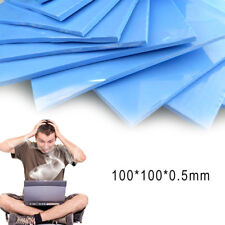 GPU CPU Heatsink Cooling Thermal Conductive Silicone Blue Pad 100x100x0.5mm sl
