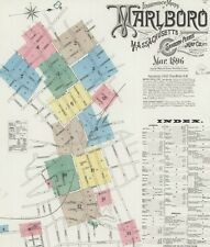 Marlboro, Massachusetts~ about 13 sanborn maps~ on  CD 1896