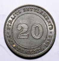 1926 Straits Settlement  Twenty 20 Cents - George V - Lot 683
