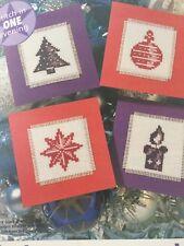 4 X fácil hacer tarjetas de Navidad Tabla De Punto De Cruz