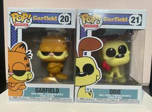 Funko POP Vinyl- Garfield- Garfield #20 & Odie #21 Pop Figurines Set/ Bundle/Lot
