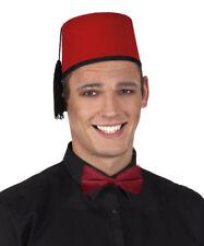 Rojo Hat Fez Aladdin Navidad hombre mujer marroquí TOMMY Cooper Matt Smith