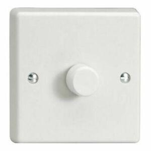 Plastic White Dimmer Brightener switch On Off  Lighting 1Gang 2Way 60w-400w