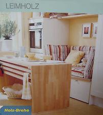 48€m²Buche Naturwuchs Leimholzplatten 27x3000x600mm Leimholz Arbeitsplatte Tisch