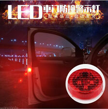 2Pcs Car LED Door Opened Warning Light anti-collid Flash Light wireless
