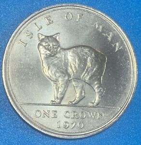 1970 Isle of Man Crown Manx Cat Cased Coin 150K Minted