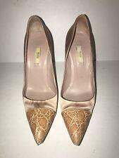 Prada Satin High Heel Shoes 38 (8) Soft Blush