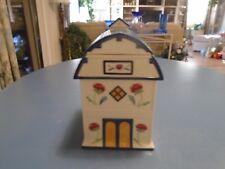 Lenox Poppies on Blue Barn Cookie Jar New